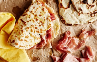 Piadina or Piada, thin Italian flatbread