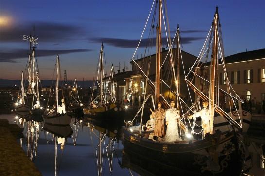 Cesenatico: Porto canale leonardesco: Presepe della Marineria